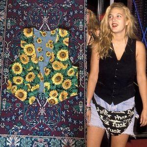 90s Reversible Sunflower Vest